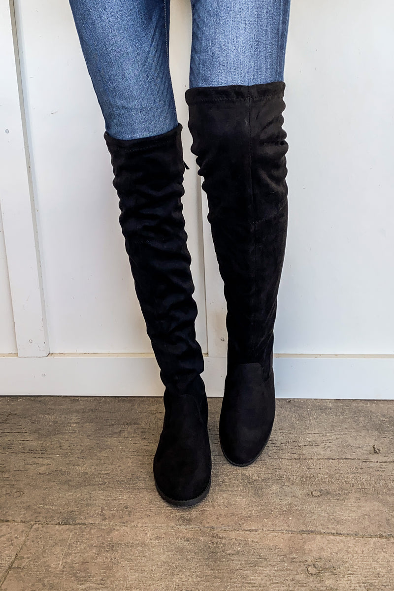 Kamryn Over the Knee Boots in Black