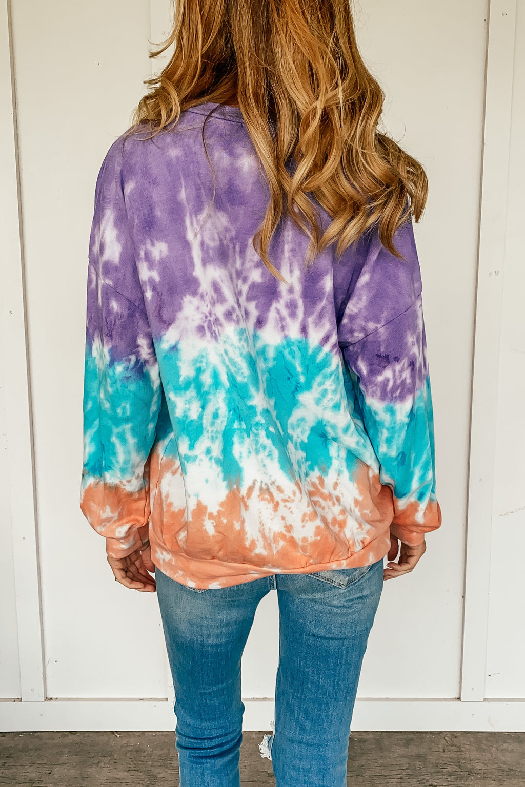 Tri Color Tie Dye Sweatshirt - LURE Boutique
