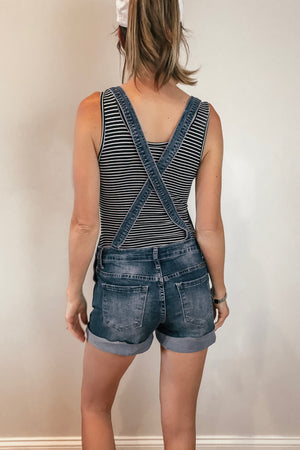 Distressed KanCan Shorts Overalls - LURE Boutique