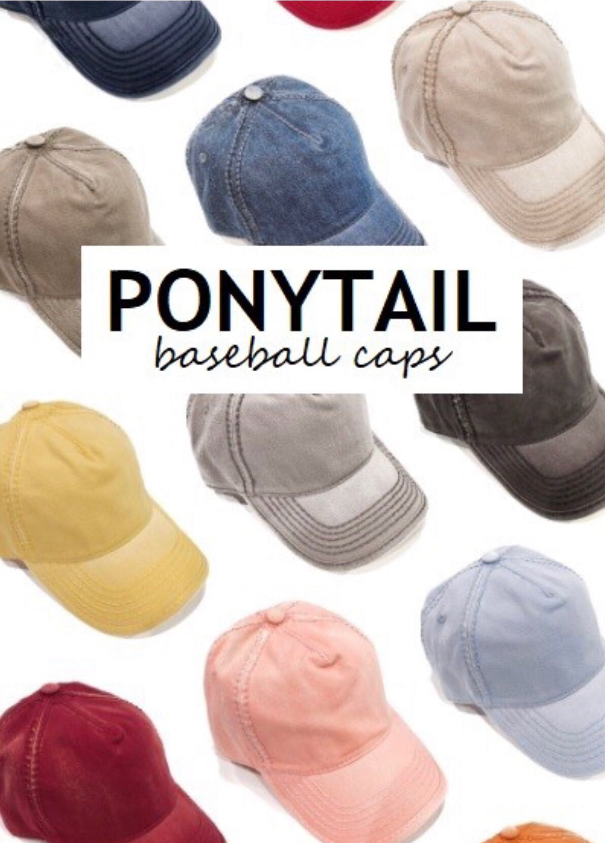 Presley Ponytail Cap (Several Colors Available)