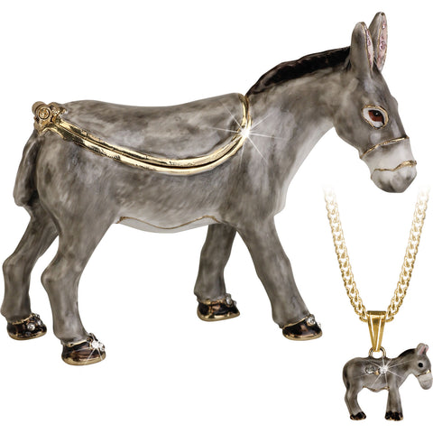 Secrets Donkey Trinket Box With Hidden Pendant