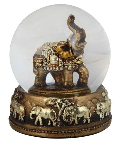 Gold Thai Elephant Snow Globe Dome Figurine 1