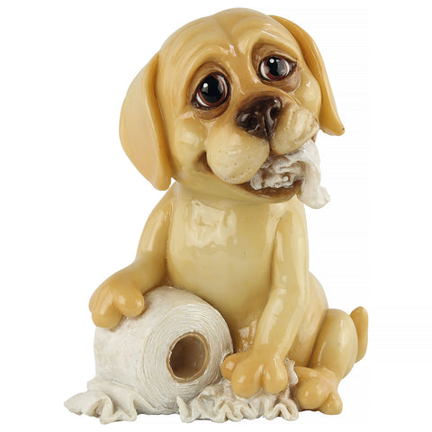 Little Paws Honey Labrador Retriever dog figurine