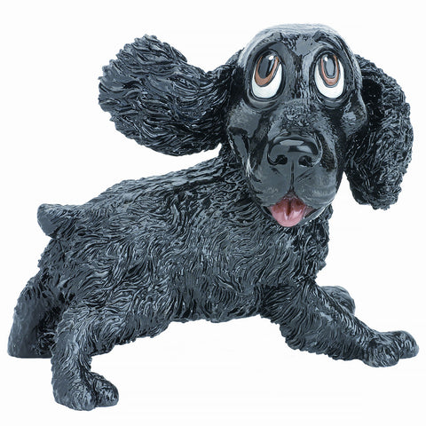 Little Paws Jarvis Cocker Spaniel Dog Figurine black