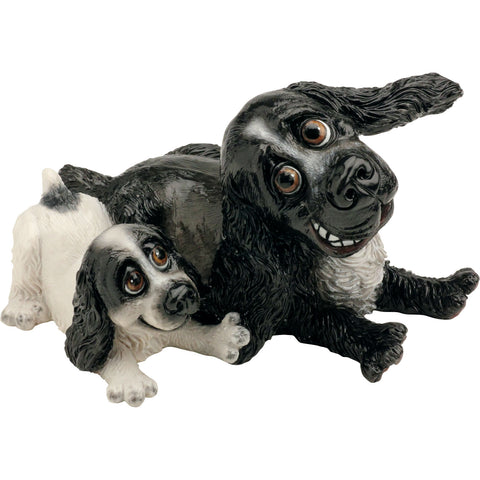 Pets With Personality Cocker Spaniel with pup dog figurine