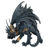 Black Dragon In Armor Figurine Statue
