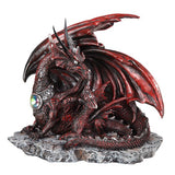 Red Dragon Mother and Baby Figurine