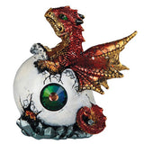 Dragon Figurine Red Baby Hatching from Egg