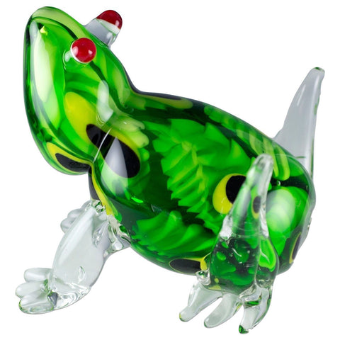 Green Murrini Frog Hand Blown Glass Figurine