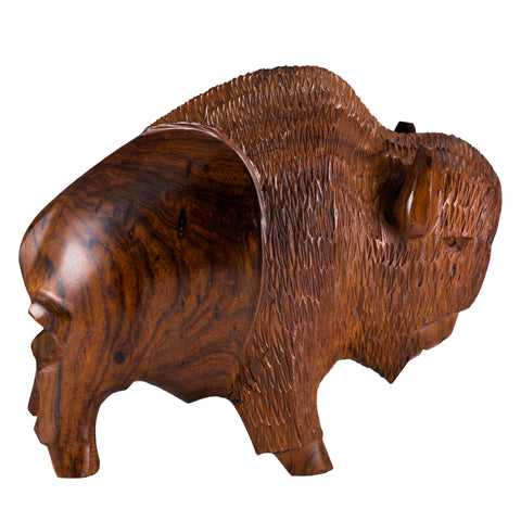 Buffalo Bison Hand Carved Ironwood Wood Carving 1