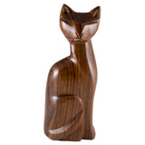 Cat Hand Carved Ironwood Wood Figurine 4