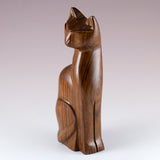 Cat Hand Carved Ironwood Wood Figurine 5