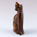 Cat Hand Carved Ironwood Wood Figurine 2