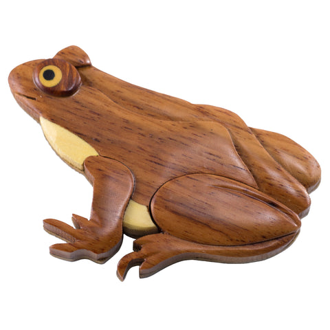 Wood Intarsia Frog Magnet 1