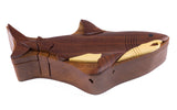 Wood Intarsia Shark Puzzle Trinket Box 2