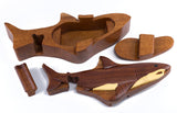 Wood Intarsia Shark Puzzle Trinket Box 4