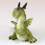Cute Little Baby Dragon Looking Around Figurine 2