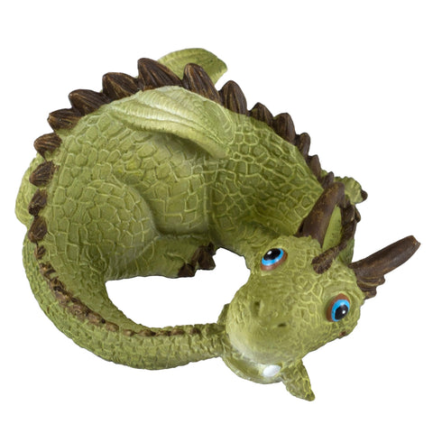 Cute Little Baby Dragon Catching Tail Figurine 1