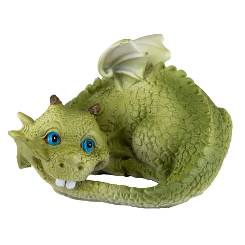Cute Baby Dragon Catching Tail Figurine 1