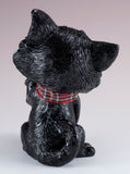 Little Paws Lucky Cat Figurine black 4