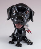 Little Paws Jet Labrador Retriever Dog Figurine black lab