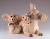 Pets With Personality Pig and Piglet figurine
