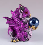 Pink Mini Dragon With Marble Gem Figurine 2