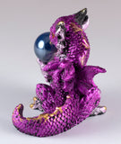 Pink Mini Dragon With Marble Gem Figurine 3