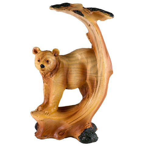 Bear Faux Carved Wood Figurine Statue 1