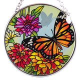 Butterfly Garden In Bloom Monarch Suncatcher Glass By AMIA 2