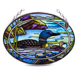 Tranquil Water Loons Glass Suncatcher By AMIA 2