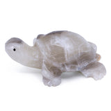 Carved Marble Stone White Turtle Tortoise Figurine 2