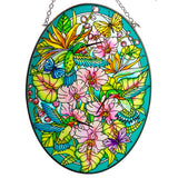 Hummingbirds Orchard Suncatcher Glass By AMIA
