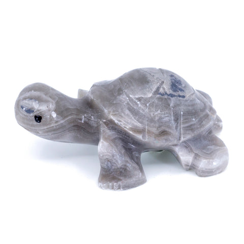 Carved Gray Marble Stone Turtle Tortoise Figurine 1