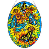 Color On The Prairie Butterfly Suncatcher Glass By AMIA