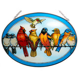 On Line Dating Bird Suncatcher Glass By AMIA