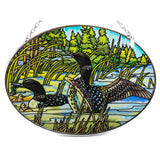 Loons Suncatcher Hand Painted Glass By AMIA Studios 2