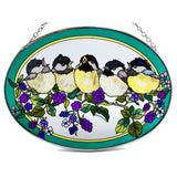 Blackberry Chicks Chicadee Suncatcher Glass By AMIA