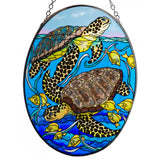 Looking Around Sea Turtles Suncatcher Glass By AMIA