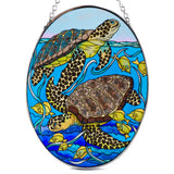 Looking Around Sea Turtles Suncatcher Glass By AMIA 2