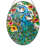Peacocks Suncatcher Glass By AMIA Studios