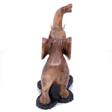 Carved Marble Stone Brown Elephant Figurine 8