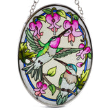 Traditional Hummingbirds Glass Suncatcher By AMIA