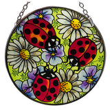 Ladybugs & Daisies Suncatcher Glass By AMIA Studios