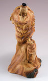 Wolf Head Bust Faux Carved Wood Look Figurine Statue 2
