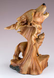 Wolf Head Bust Faux Carved Wood Look Figurine Statue 3