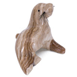 Carved Marble Stone Tan Seal Sea Lion Figurine 2