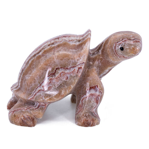 Carved Marble Stone Brown Turtle Tortoise Figurine 7
