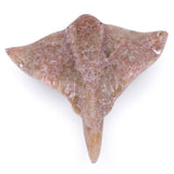 Carved Marble Stone Tan Stingray Figurine 2