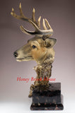 Large Deer Head Bust Buck Figurine
